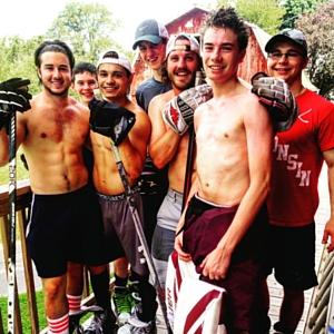 team training with farm tough hockey on the farm