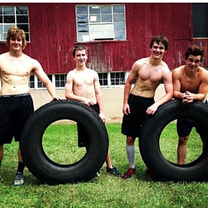training on the farm with farm tough hockey private training