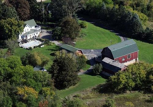 aerial view of farm tough hockey
