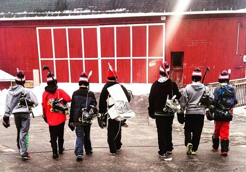 training at farm tough hockey