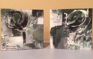 Two of my newest abstracts, patiently waiting for titles. Contact me with any thoughts...