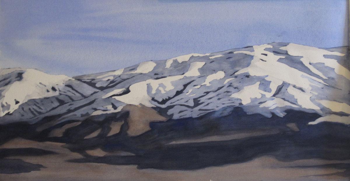 Idaho Splendor – 36″ x 24″ Original Framed Watercolor :: SOLD