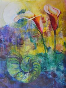 Land and Sea - Original Framed Mixed Media :: $1,000.00