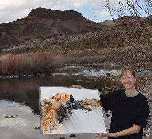 "Painted the ""Owyhee"" on the riverbank - See in Landforms Gallery – Prints Available"