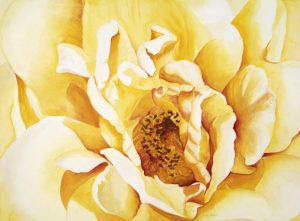 Radiant Gold – 30″ x 22″ Original Watercolor on Clayboard :: $950