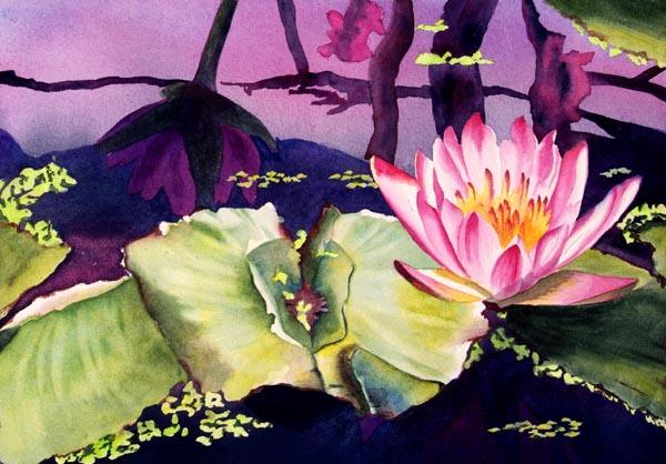 Serenity – 34″ x 25″ Original Framed Watercolor :: SOLD
