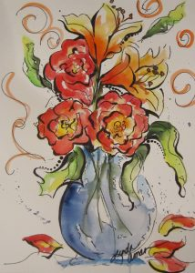 Vase of Sunshine - Original Watercolor :: NFS