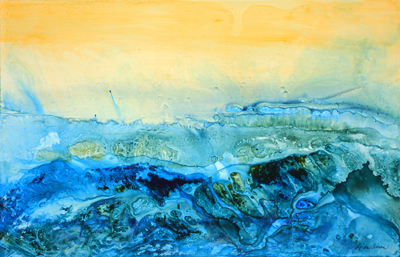 """Wind and Water – 26"""" x 19"""" Original Acrylic :: NFS"""