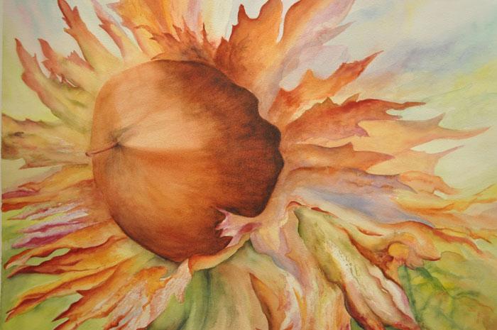 Oregon Hazelnut – 34″ x 26″ Original Matted Watercolor :: SOLD