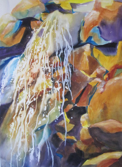 Rocks Wild – 33″ x 41″ Original Matted Ready to Frame Watercolor :: SOLD
