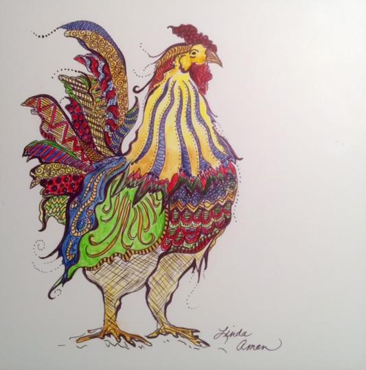 Pen & Ink Rooster