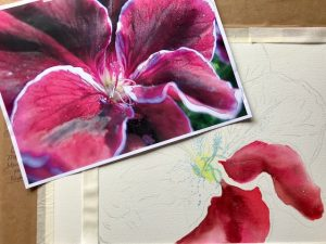 Radiant Red Watercolor Workshop