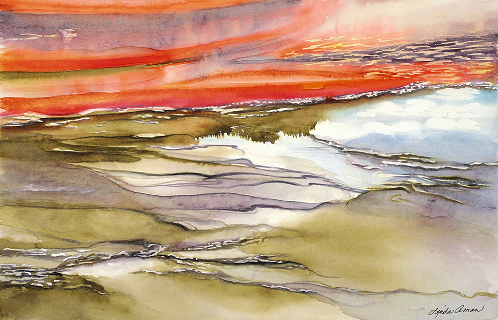 Prismatic Reflected Original Watercolor - Fine Art Print