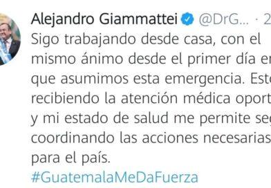 Presidente de Guatemala confirma que dio positivo a la Covid-19