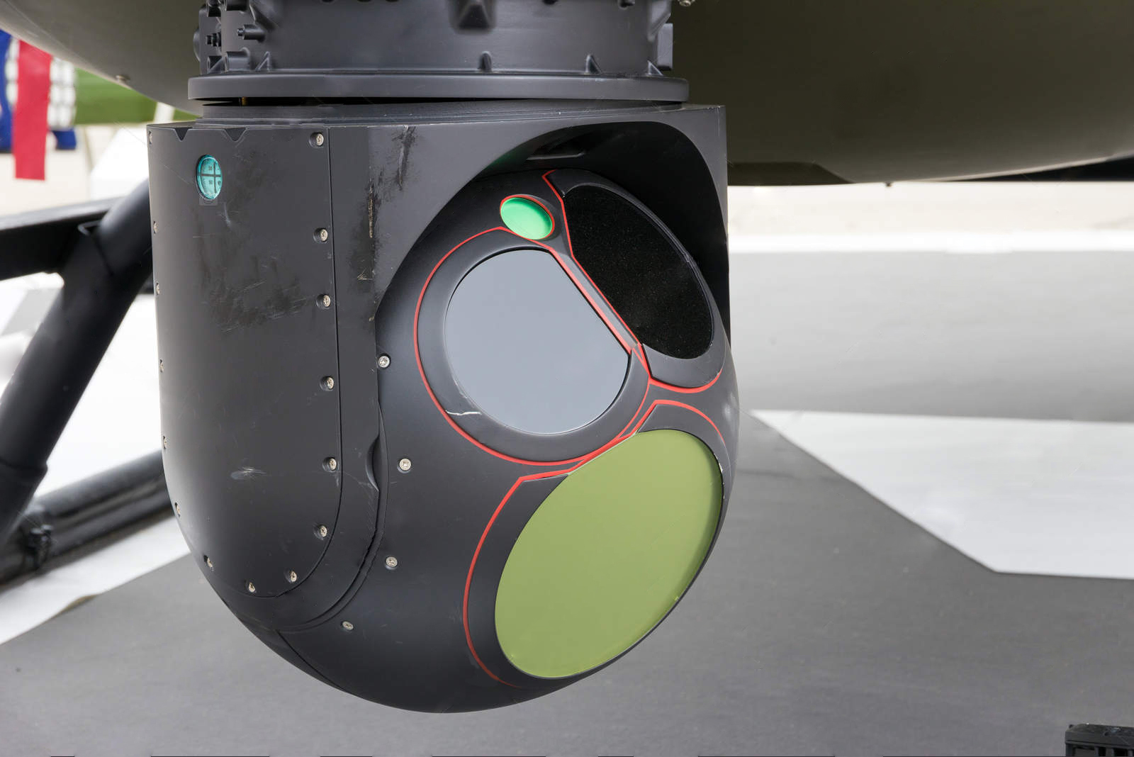 Helicopter mounted camera