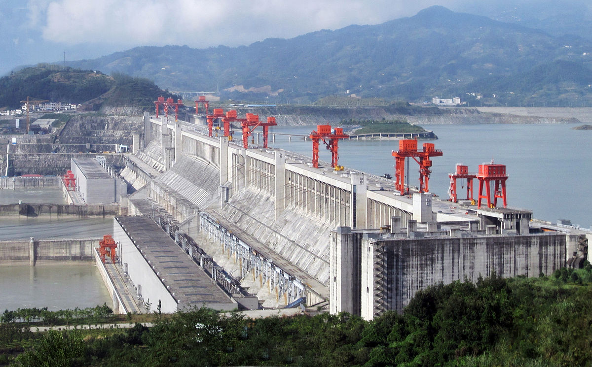 """""""ThreeGorgesDam-China2009"""" by Source file: Le Grand PortageDerivative work: Rehman - File:Three_Gorges_Dam,_Yangtze_River,_China.jpg. Licensed under CC BY 2.0 via Wikimedia Commons."""