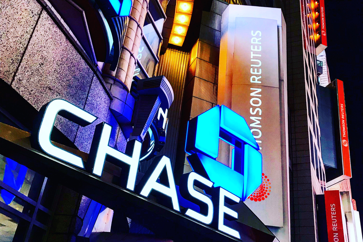 Chase Bank Times Square Flagship Signage