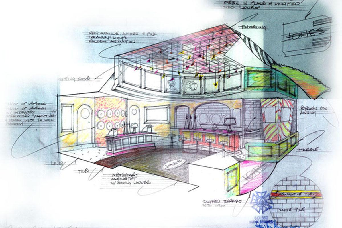 Popcorn Indiana Restaurant-Retail Concept Art