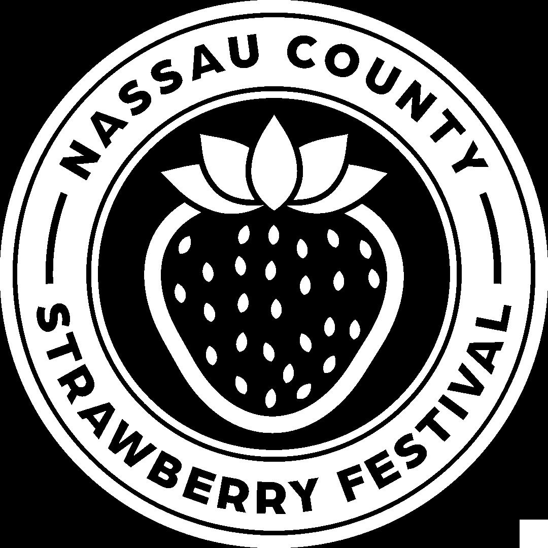 Strawberry Festival Logo White