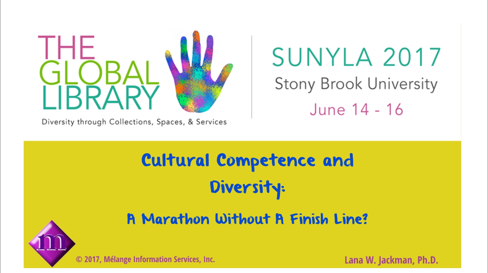 SUNY Library Conference June, 2017