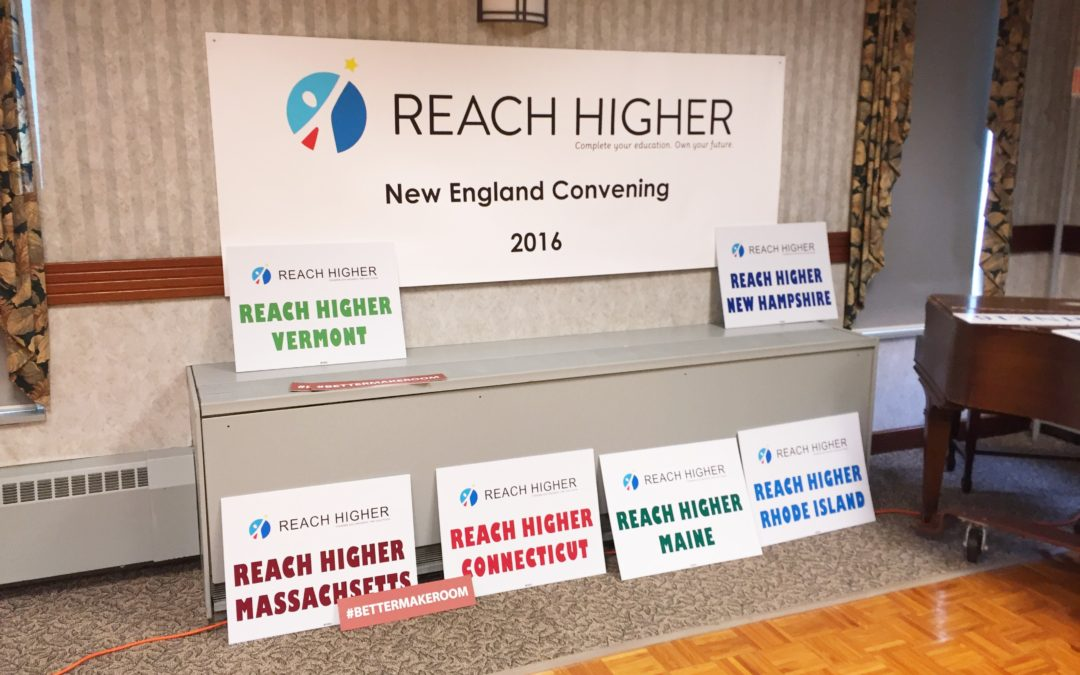 REACH HIGHER NEW ENGLAND CONVENING 2016