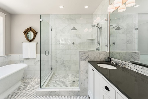 remodeled master bathroom in St. George, UT