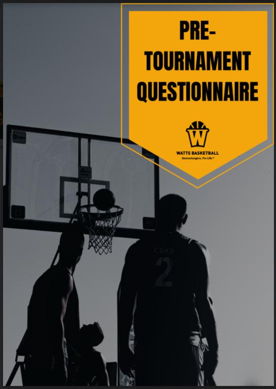 pre-tournament performance plan