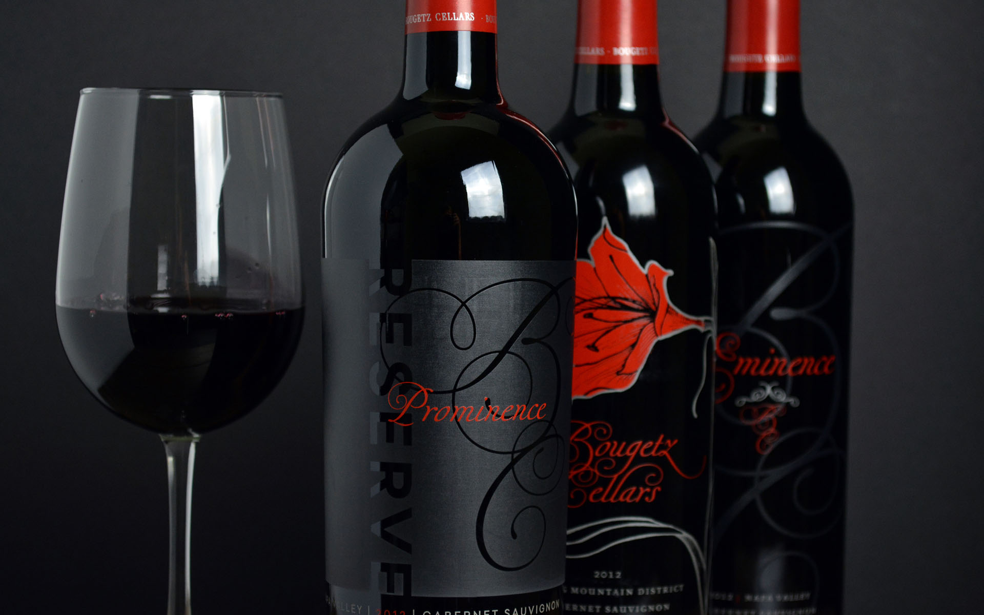 Bottle Shots for Bougetz Cellars Homepage