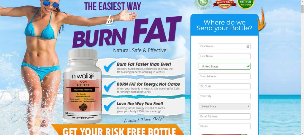 FREE Bottle of Keto Weight Loss Supplements