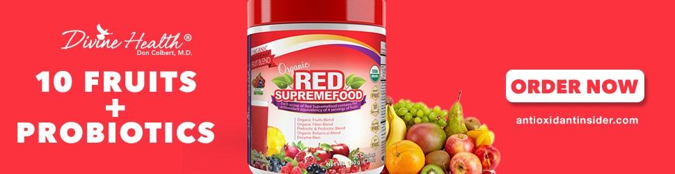 Longevity Now ! Slow the Aging Process with Red Supremefood Super Fruit Blend plus Probiotics