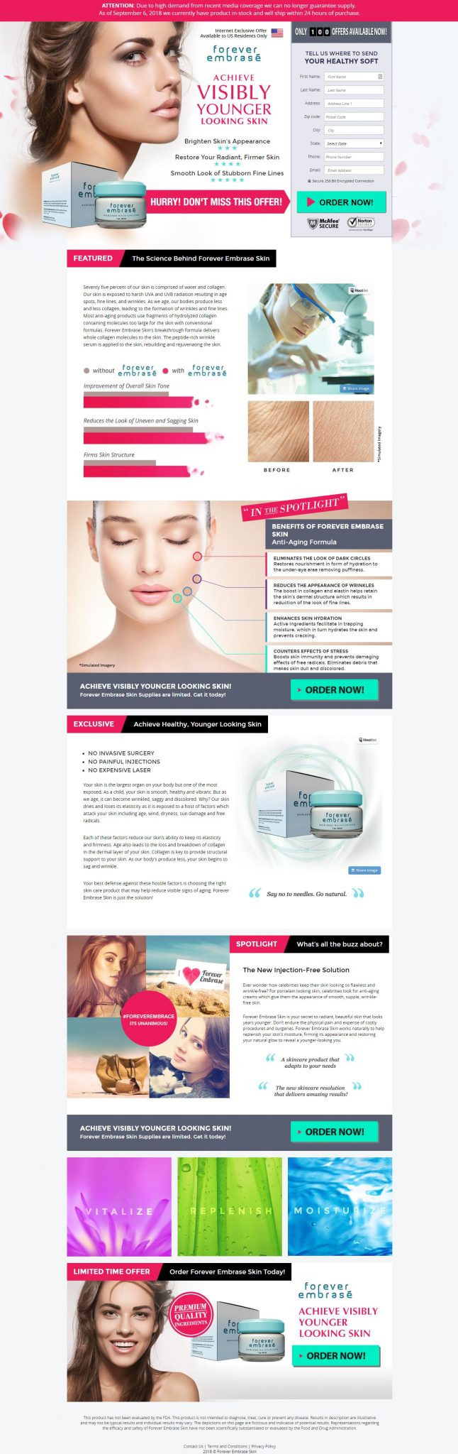 FOREVER EMBRACE - VISABLY YOUNGER LOOKING SKIN