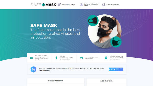 SAFE MASK – Face Mask that is the Best Protection against Coronavirus and other viruses and air pollution. SPECIAL HALF PRICE / Free Shipping OFFER