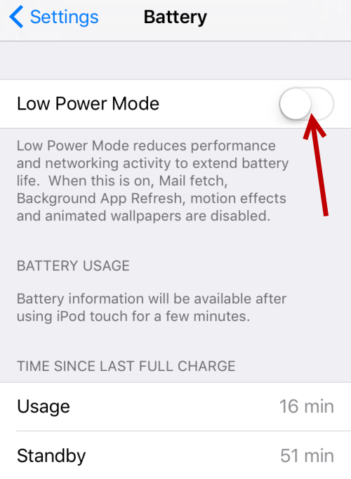 battery timing