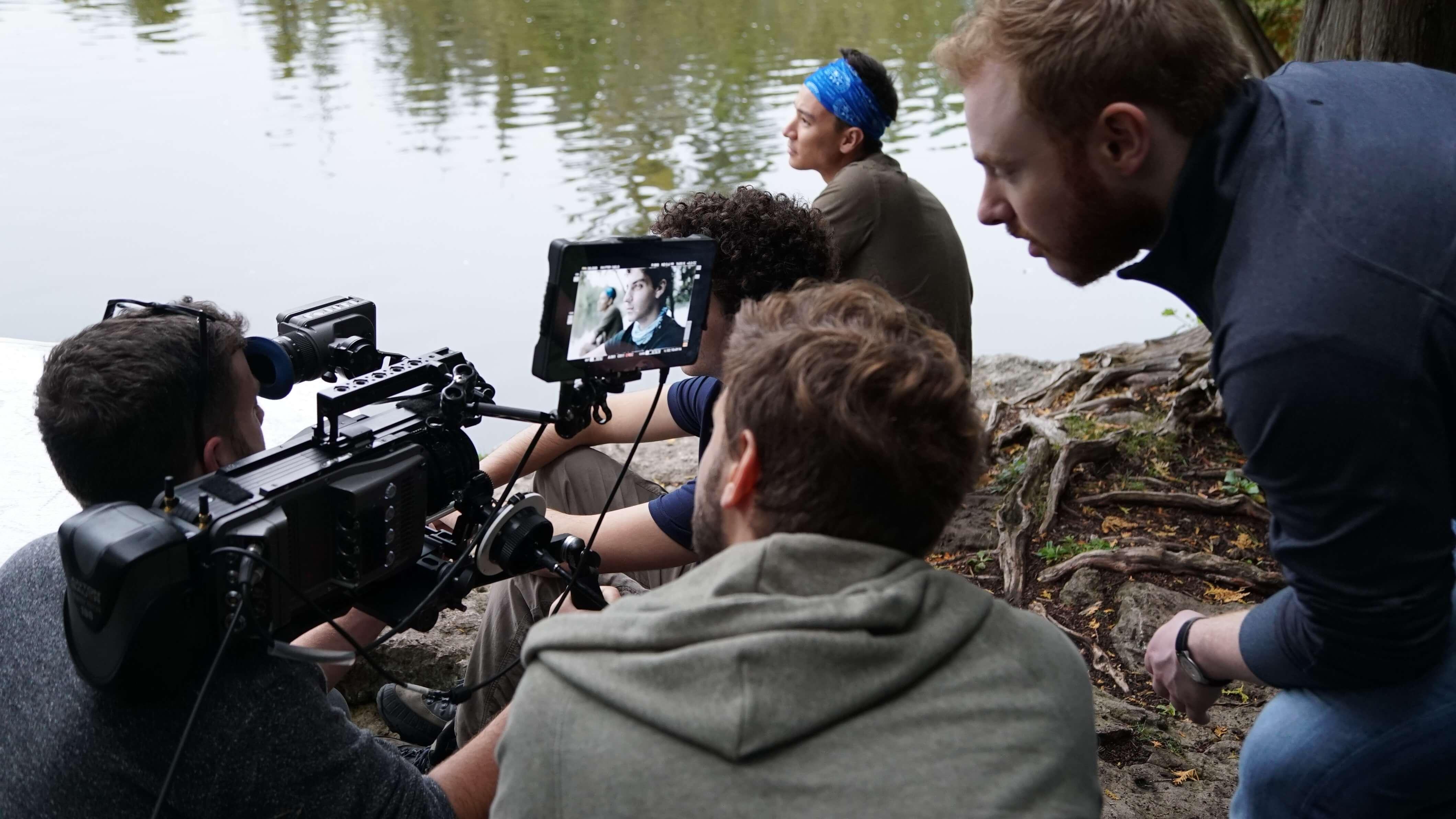 Movie Set at a lake