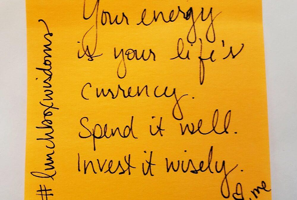 Energy begets energy!