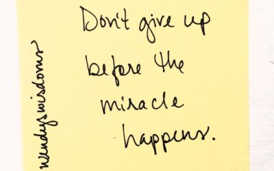 You Make Miracles Happen