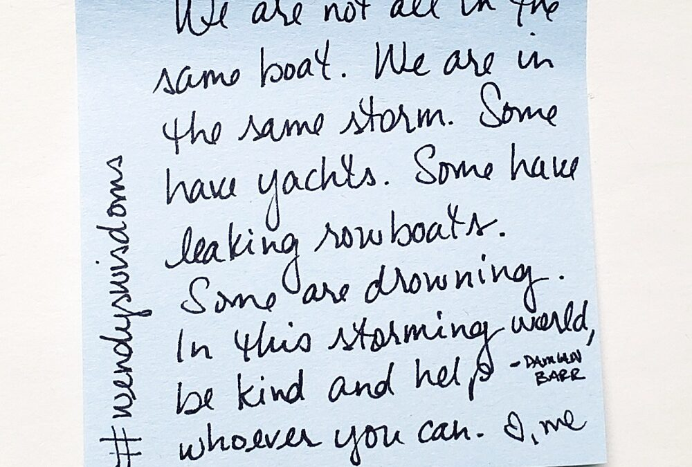 We Are In The Same Storm