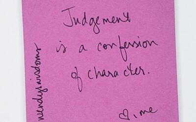 Letting Go Of Judgement