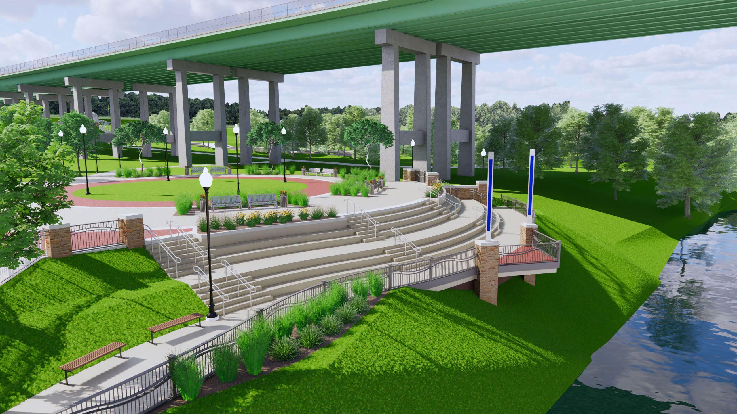 River-District-Park-Riverfront-Plaza-Day-West