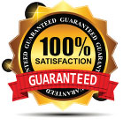 Guaranteed logo service Gold and Red
