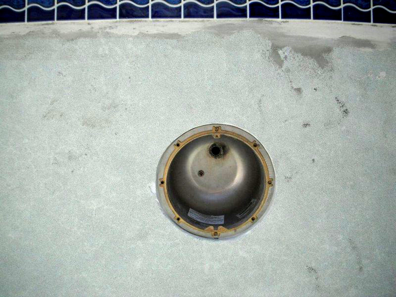 Installation of new light niche after by Florida Pool and Leak