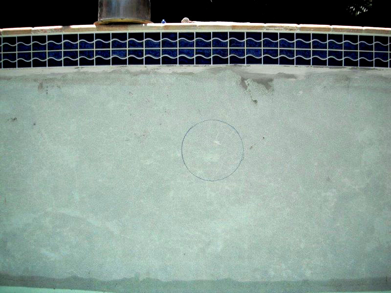 Installation of new light niche before by Florida Pool and Leak