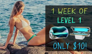 $10 One Week of Tanning in Level 1