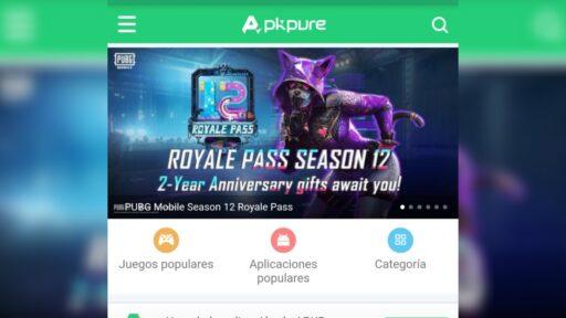 Apkpure es otra de las alternativas a Google Play Store en android