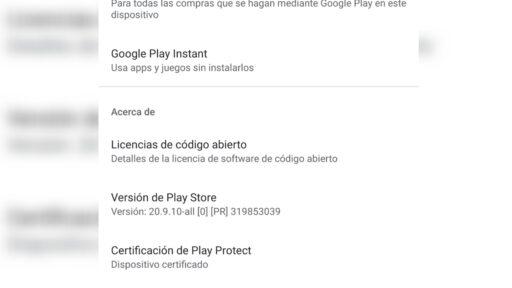 Actualizar Google Play Store de forma manual sin apps