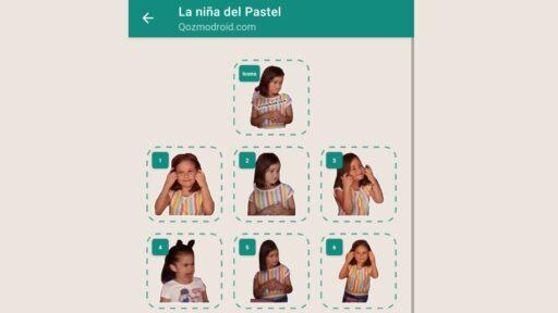 Sticker maker: Nuevos STICKERS de la niña del pastel