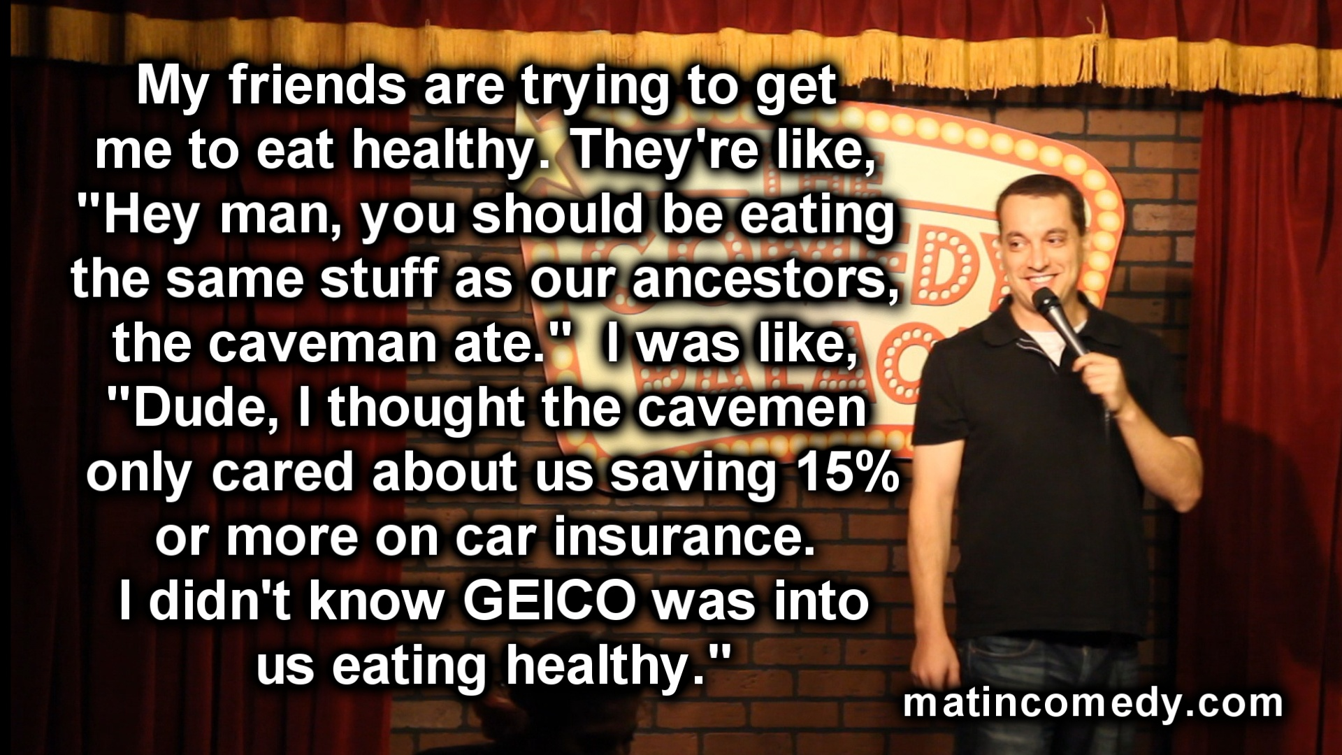 Stand-Up Comedy - Eating Healthy