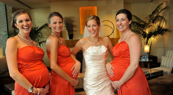 Ask a Professional Bridesmaid: I'm Pregnant and Unsure When I Should Order My Bridesmaid Dress?
