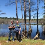 Cindy (Everett's and Stewart's Mom) and her 72-year old Dad did their 5k walk around the edge of a cypress swamp at George L Smith State park in Twin City, GA over Spring Break! 👏👏👏
