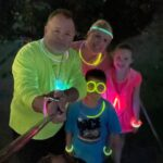 Welling family galloped through their neighborhood and lit up the night! Way to glow!! 🙌